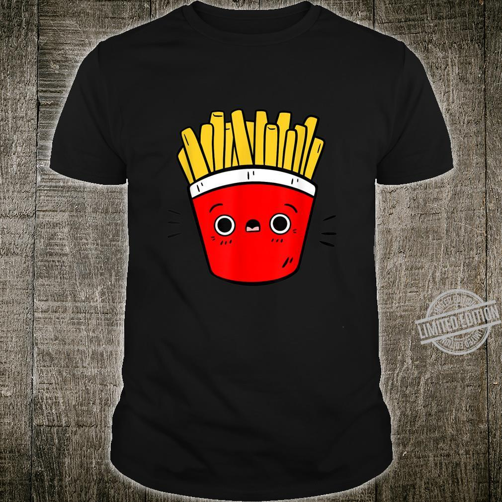 Cute Pommes Fries Lustiges Pommes Design Für Foodies Shirt