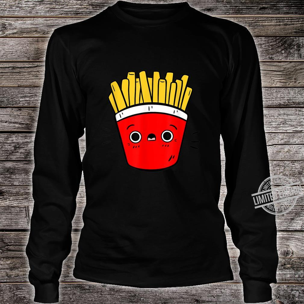 Cute Pommes Fries Lustiges Pommes Design Für Foodies Shirt long sleeved