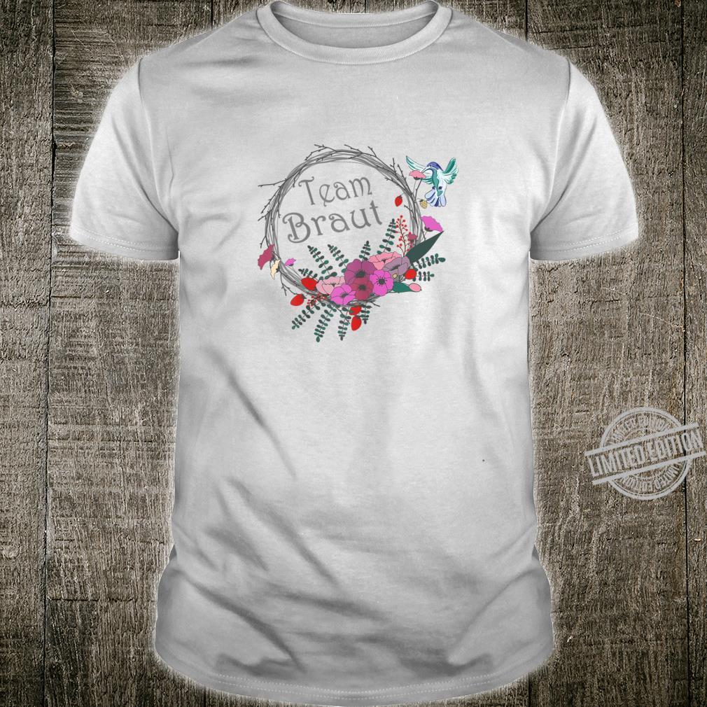 Damen Junggesellenabschied Frauen Braut Blumenkranz Shirt