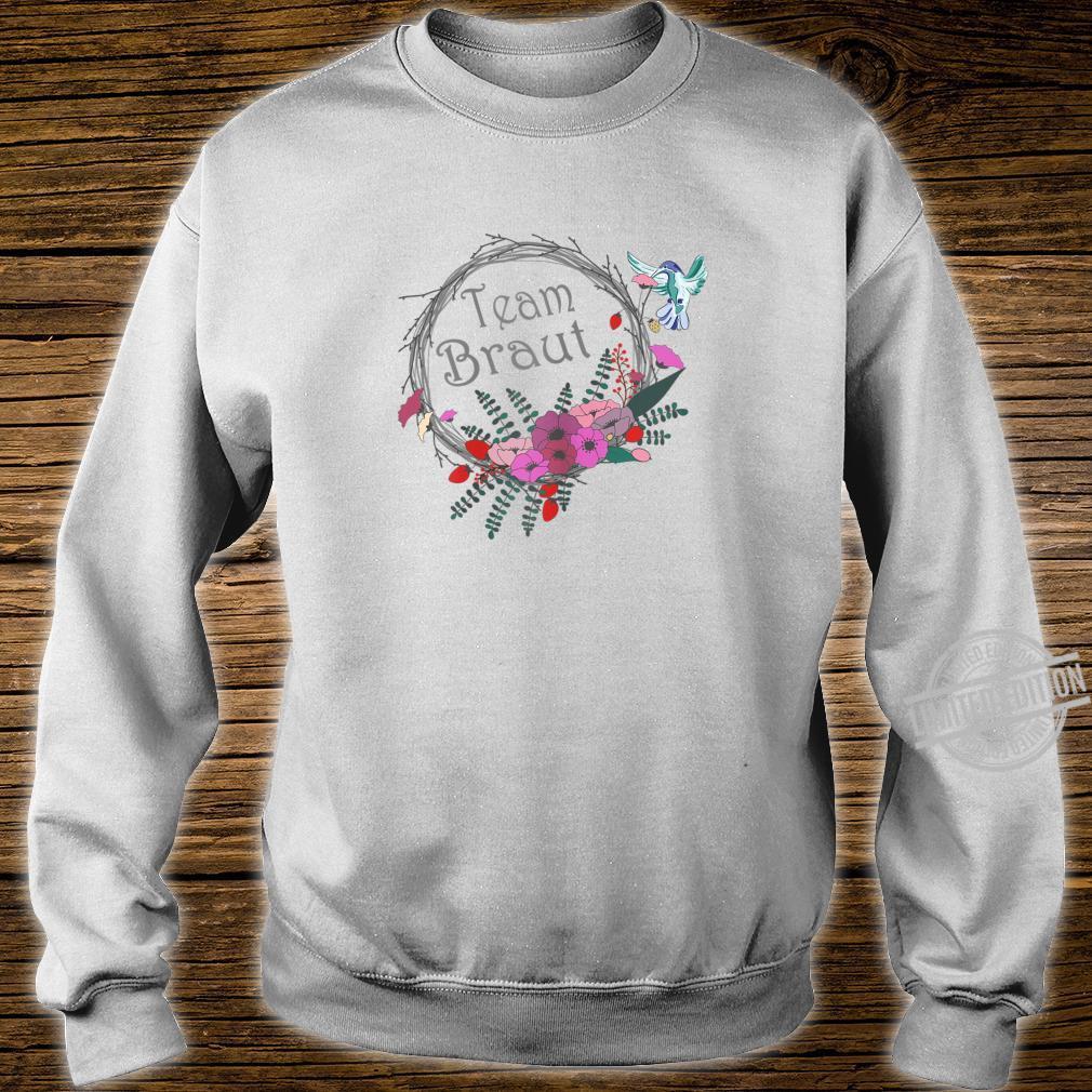 Damen Junggesellenabschied Frauen Braut Blumenkranz Shirt sweater