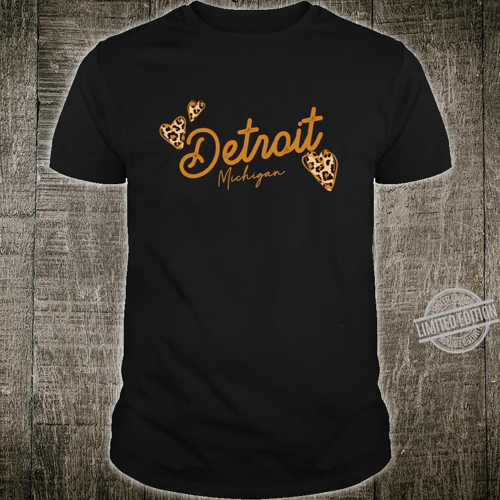 Detroit Leopard Shirt Cheetah Animal Print Trendy Shirt