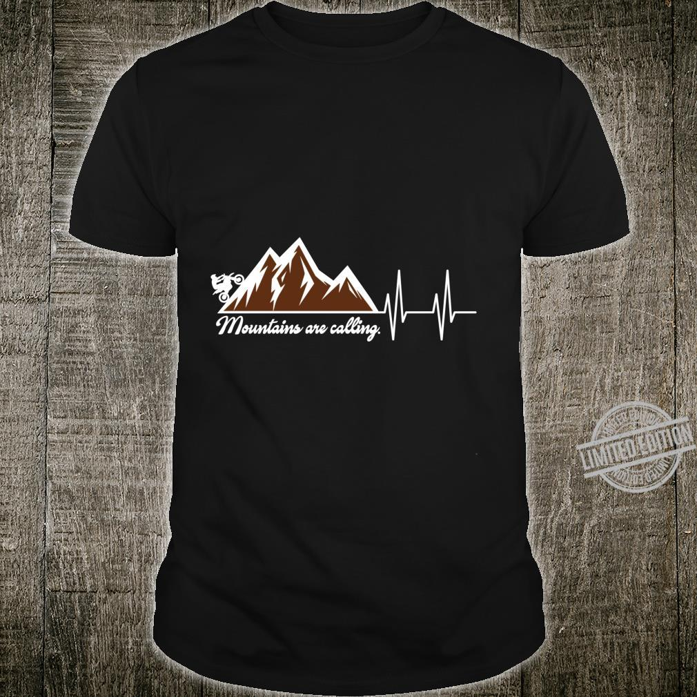 Dirt Bike Mountains Are Calling Heartbeat Shirt
