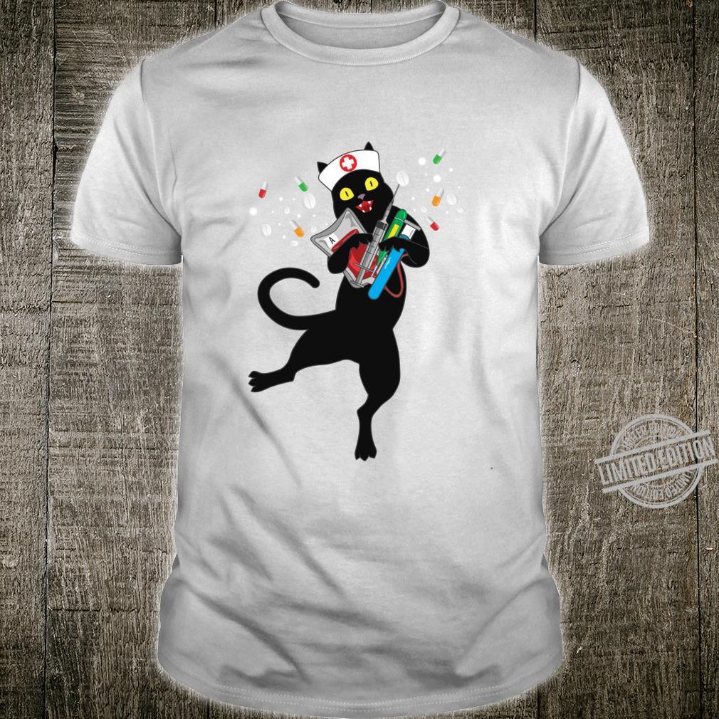 Drug Dealer Shirt Nurse Phlebotomist Black Cat Langarmshirt Shirt