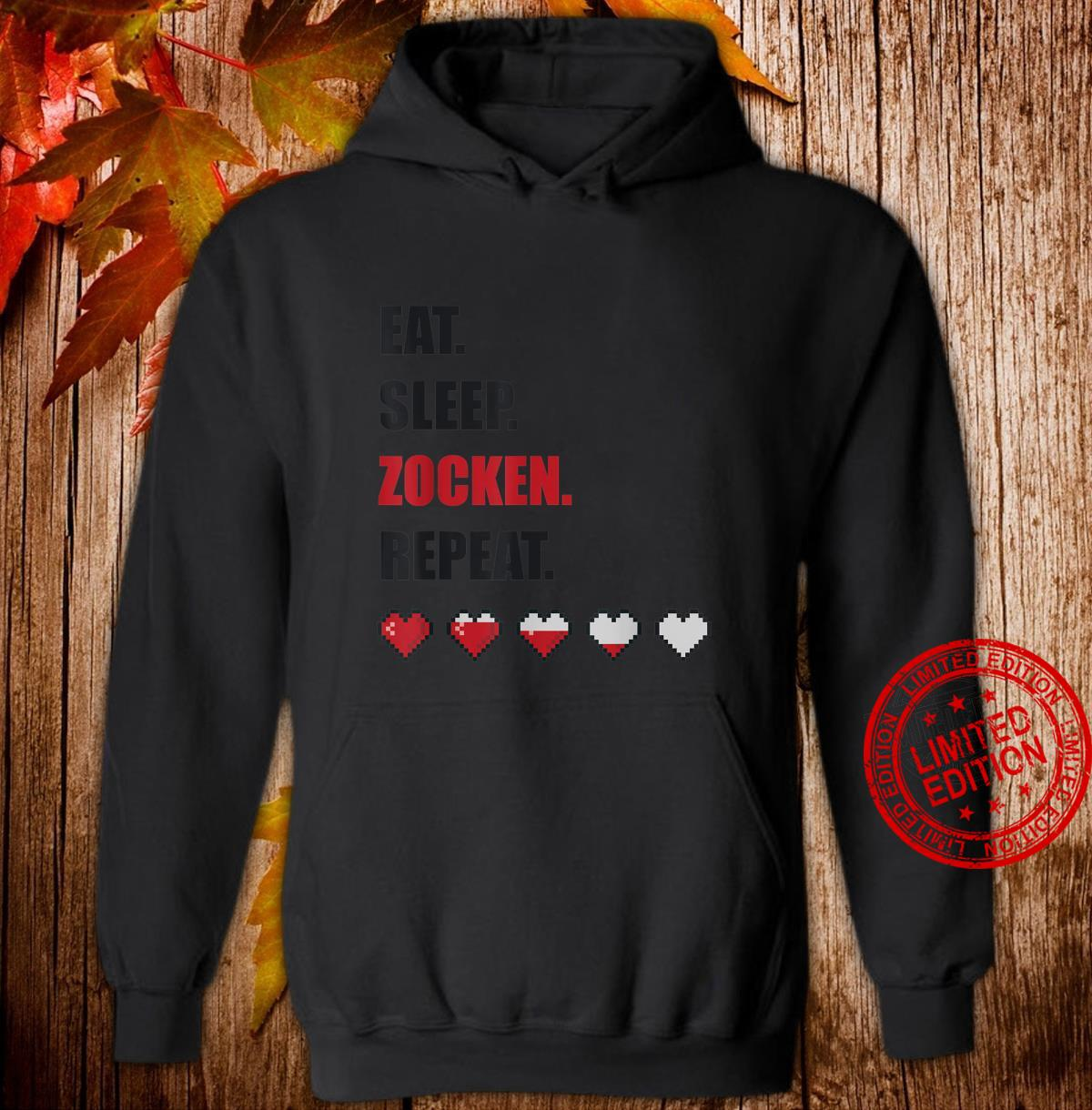 Eat sleep zocken Gamer Gaming lustiges Geschenk Shirt hoodie