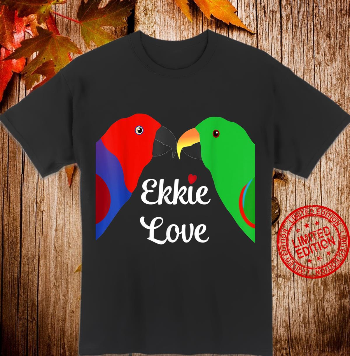 Eclectus Male Female Love Heart Shirt
