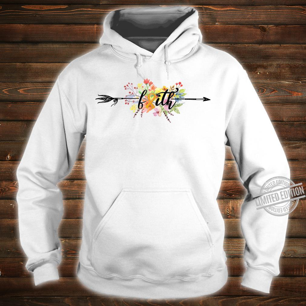 FAITH Flowers Orange Ribbon Leukemia Awareness Shirt hoodie