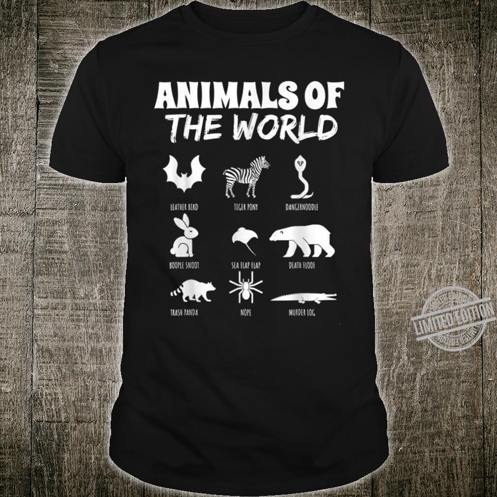 Farm Pun Animal Parody Silly Name Chart Shirt