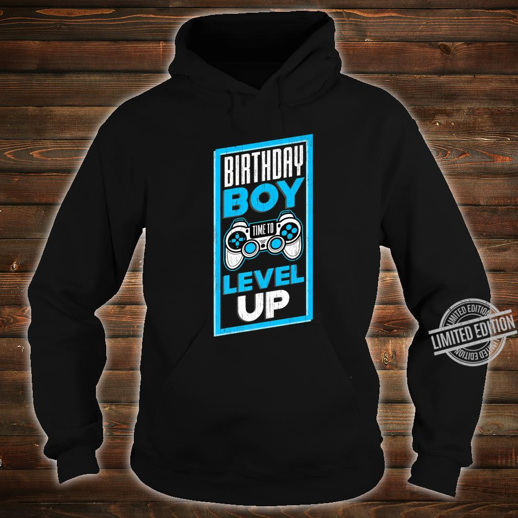 Funny Birthday Boy Time To Level Up Video Game For Shirt hoodie