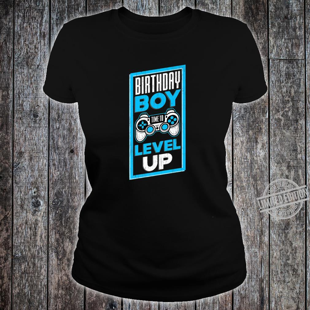 Funny Birthday Boy Time To Level Up Video Game For Shirt ladies tee