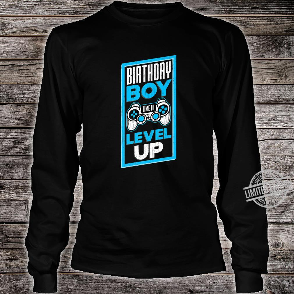 Funny Birthday Boy Time To Level Up Video Game For Shirt long sleeved