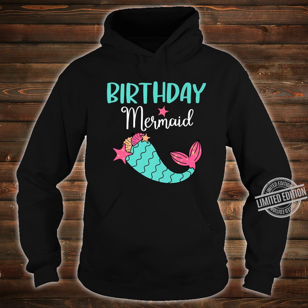Funny Birthday Mermaid Girl Themed Party Shirt hoodie