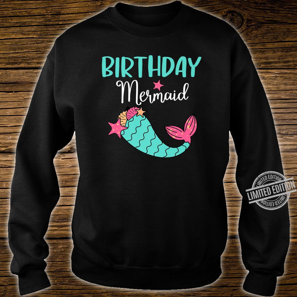 Funny Birthday Mermaid Girl Themed Party Shirt sweater