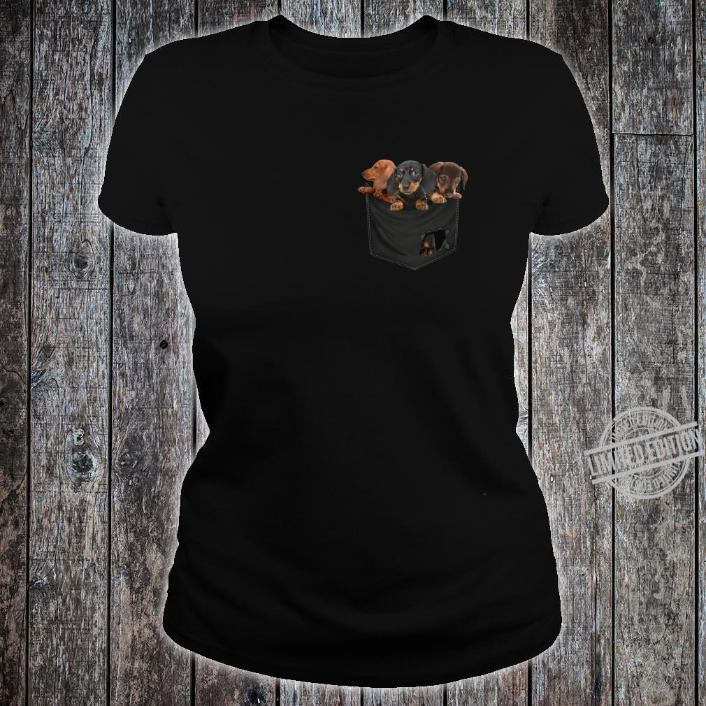 Funny Dachshund in Your Pocket for Dogss Shirt ladies tee