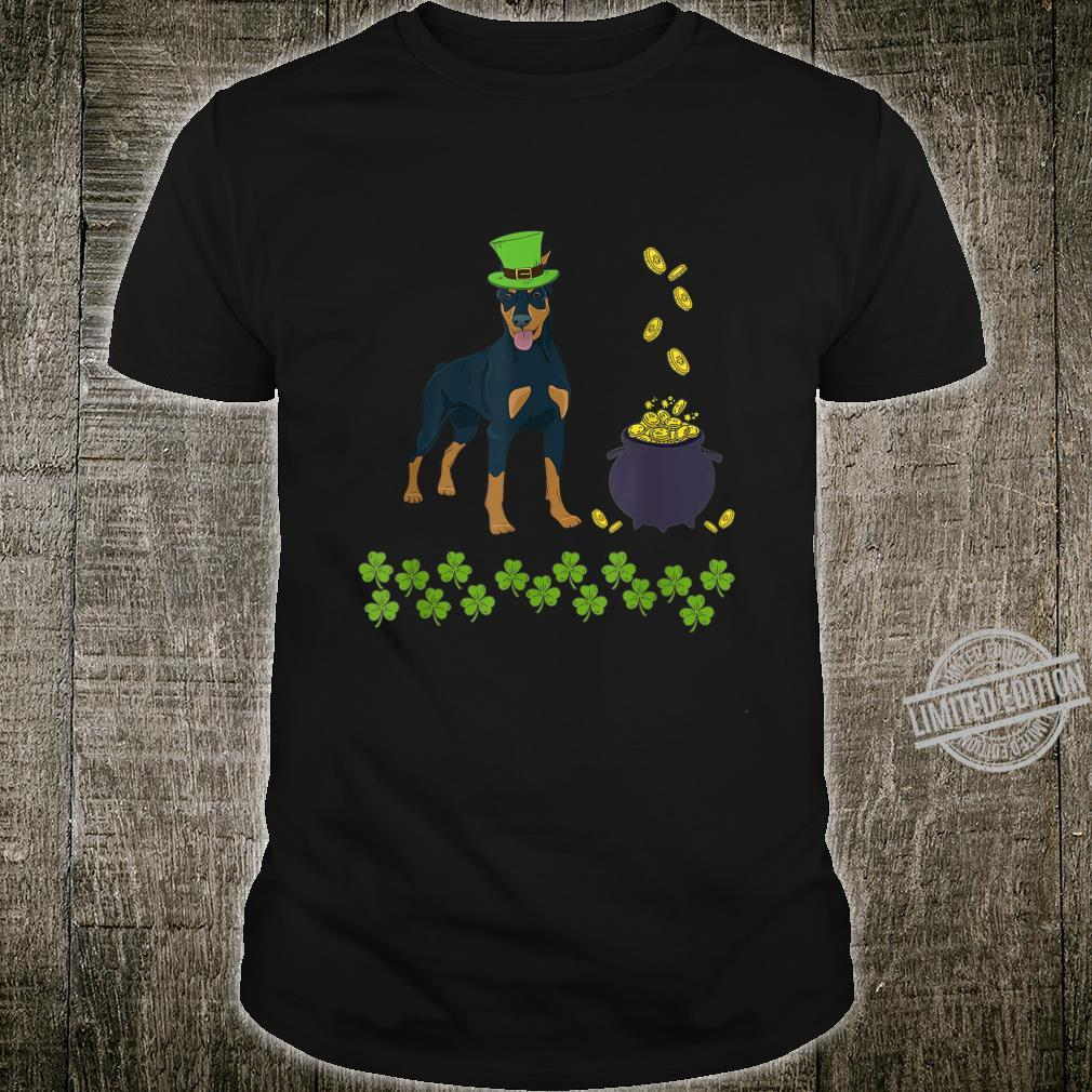 Funny Doberman St Patricks Day Dog Shamrock Shirt