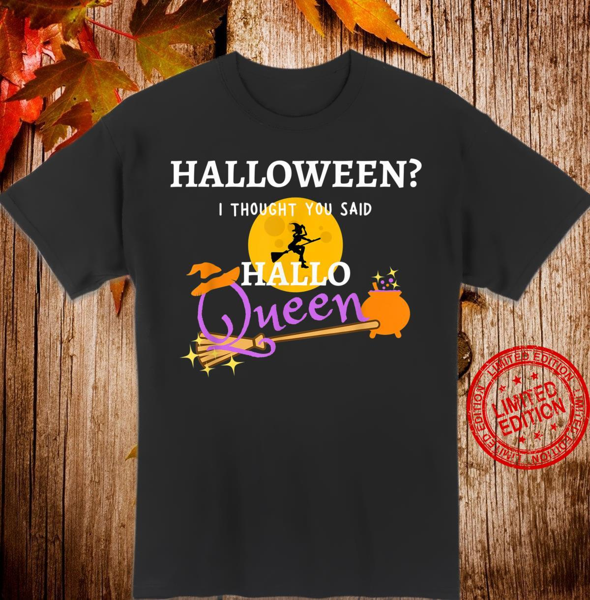 Funny Halloween Queen Flying Witch Shirt