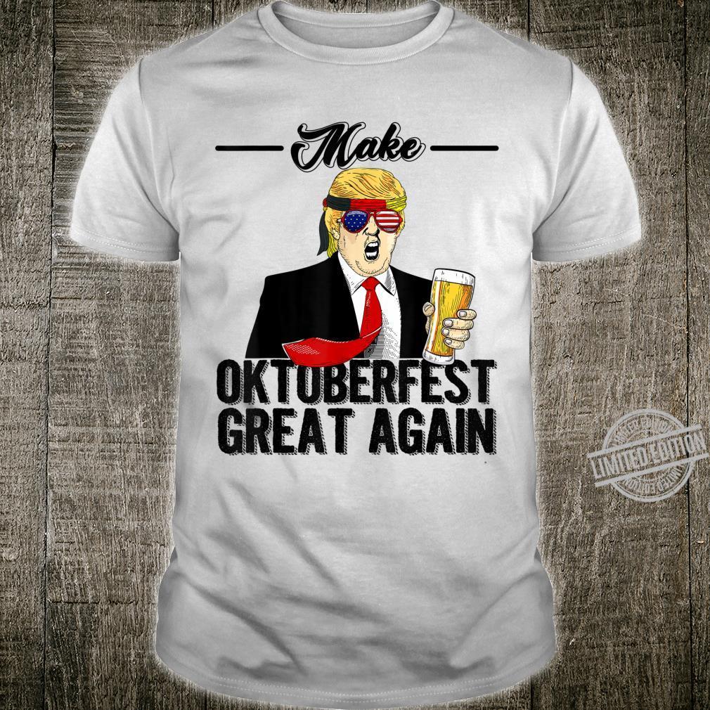 Funny Make Oktoberfest Great Again Trump Beer Mug Prost Shirt