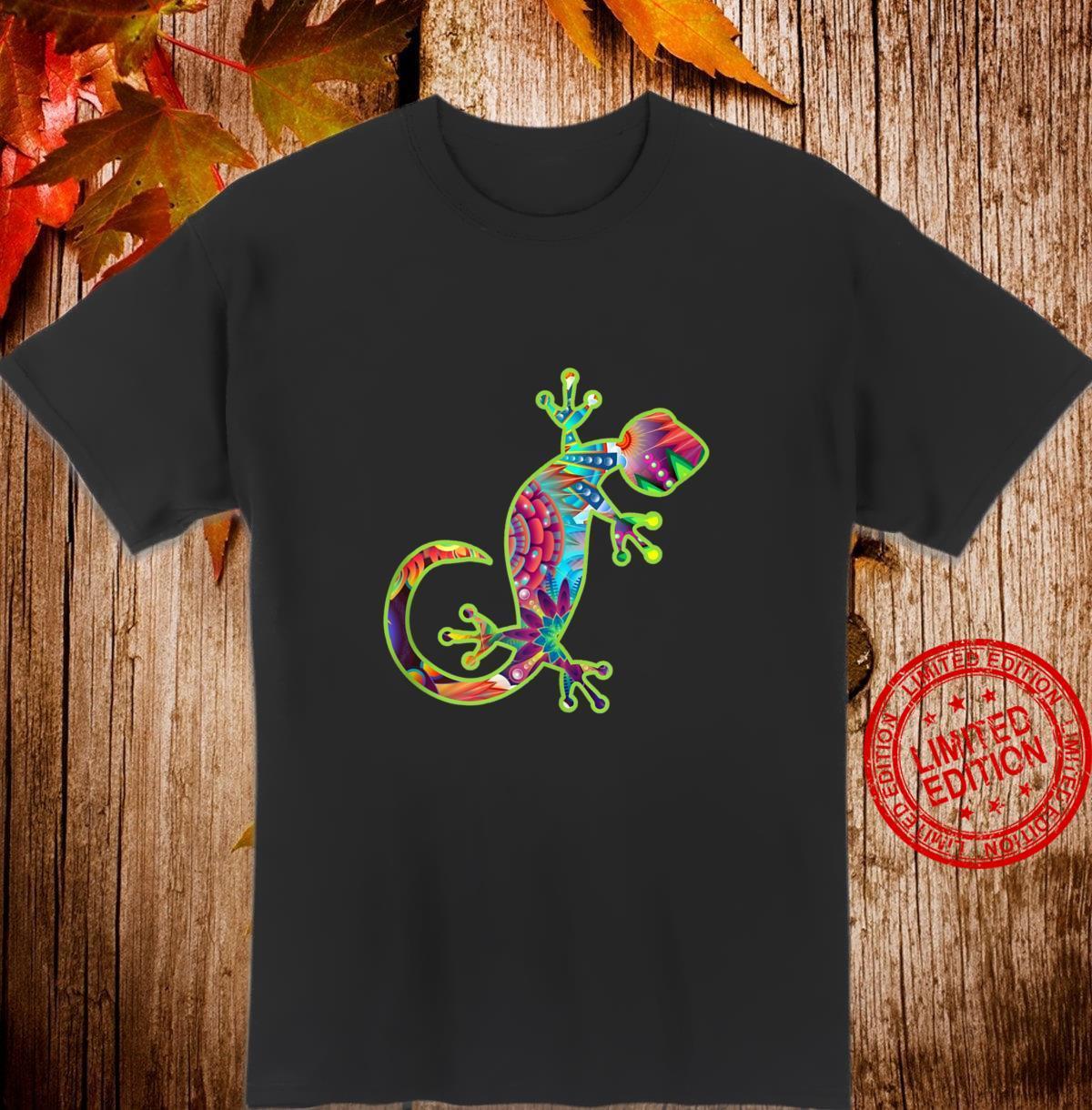 Gecko Lizard Shirt Pattern Lizard Cute Climbing Gecko Shirt