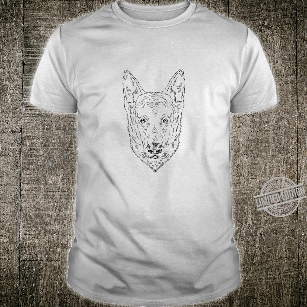 German Shepherd Dog Owner Artistic Sketch Alsatian Top Shirt