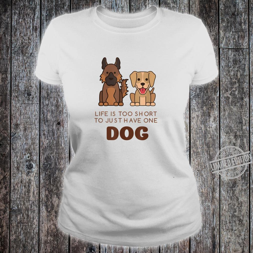 German Shepherd Labrador Cute Dog Shirt ladies tee