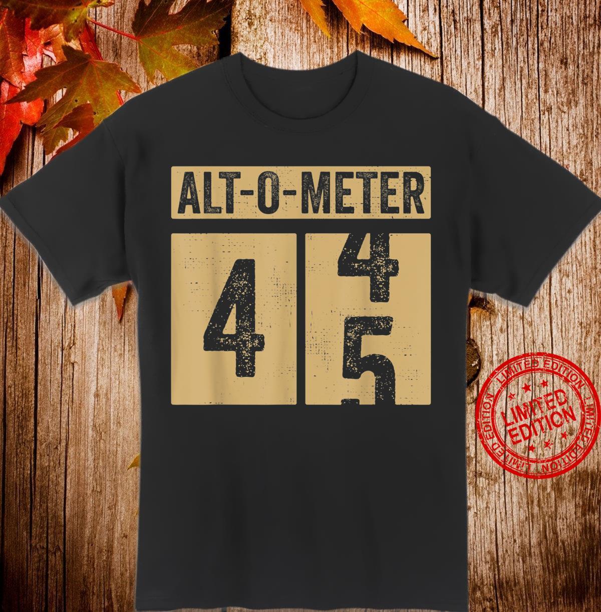 Geschenk Zum 45 Geburtstag Mann Papa Frau Altometer Vintage Shirt