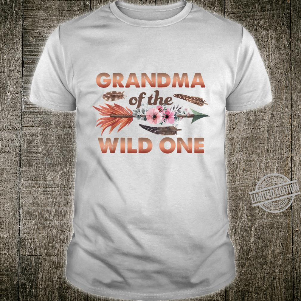 Grandma of Wild One 1st Birthday Outfit Family Matching Set Shirt