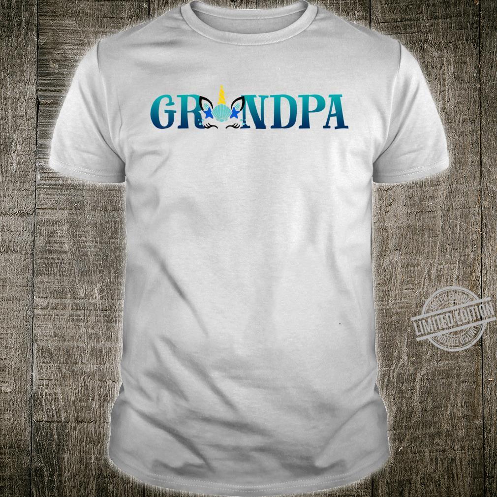 Grandpa Unicorn Face Matching Family Outfits Shirt