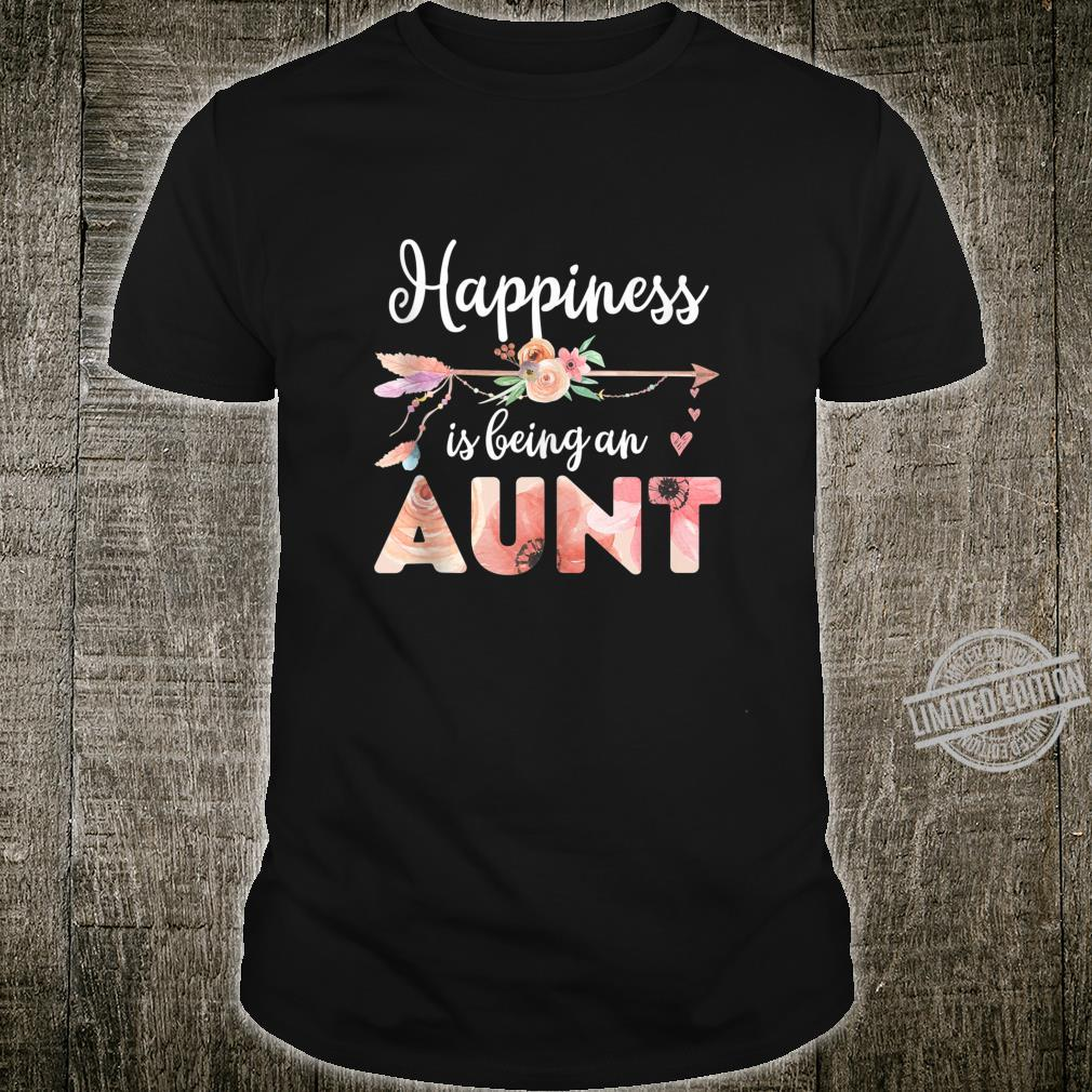 Happiness is Being an Aunt Floral Mother's Day Shirt