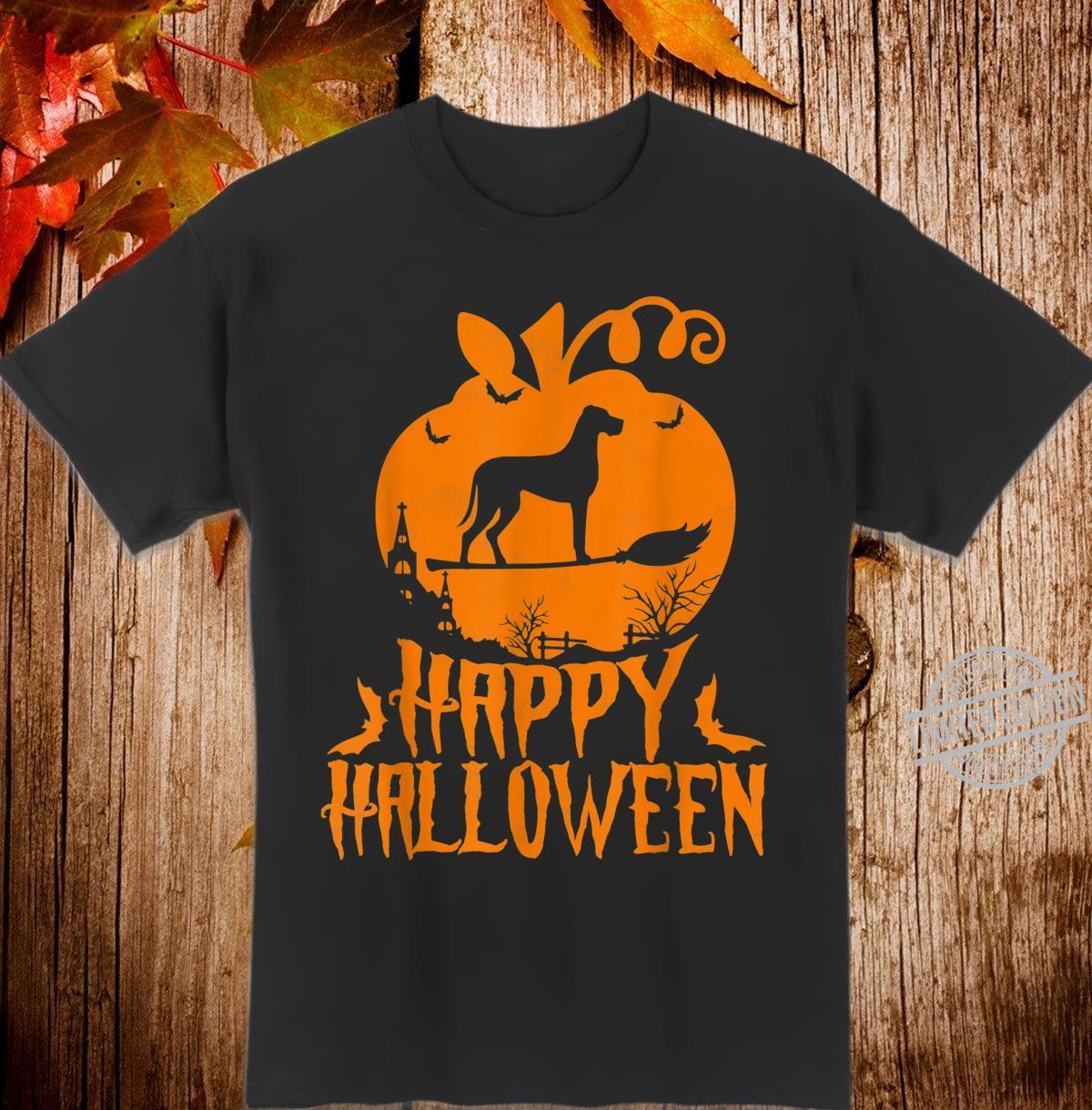 Happy Halloween Great Dane Costume Shirt Dog Shirt