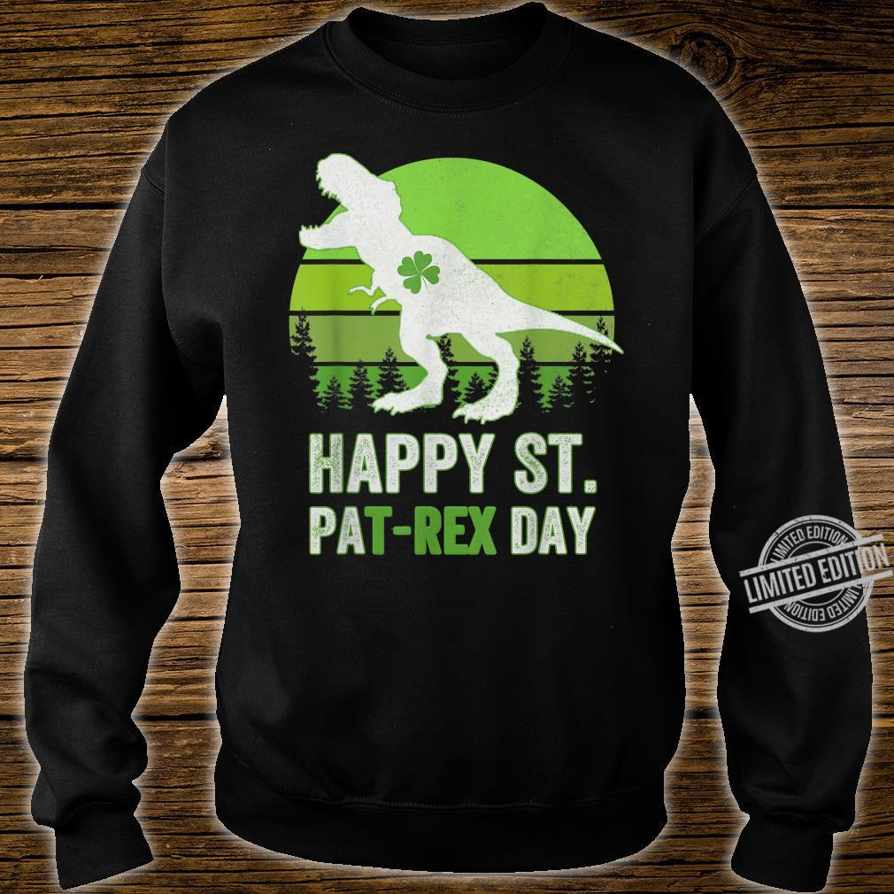 Happy St Pat T Rex Saint Patrick's Day Dinosaur Shirt sweater
