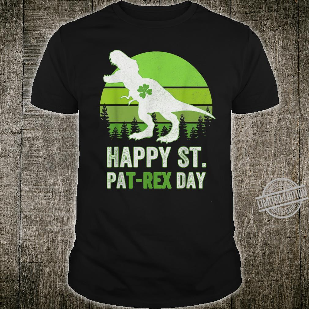 Happy St Pat T Rex Saint Patrick's Day Dinosaur Shirt