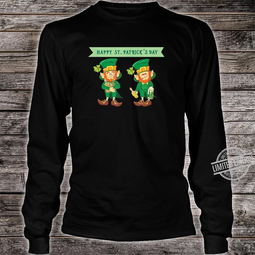 Happy St Patrick's Day Celebrating Irish Leprechaun Shirt long sleeved