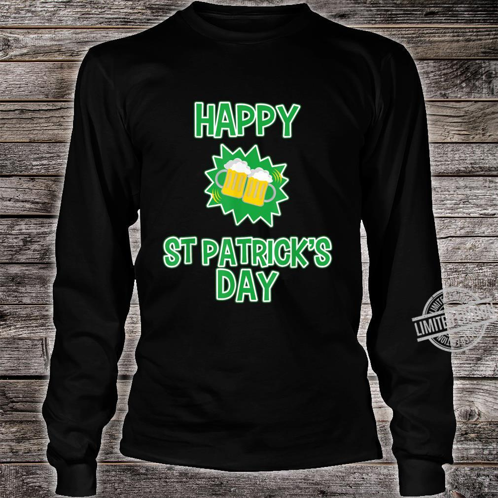 Happy St Patrick's Day Drinking Shirt long sleeved