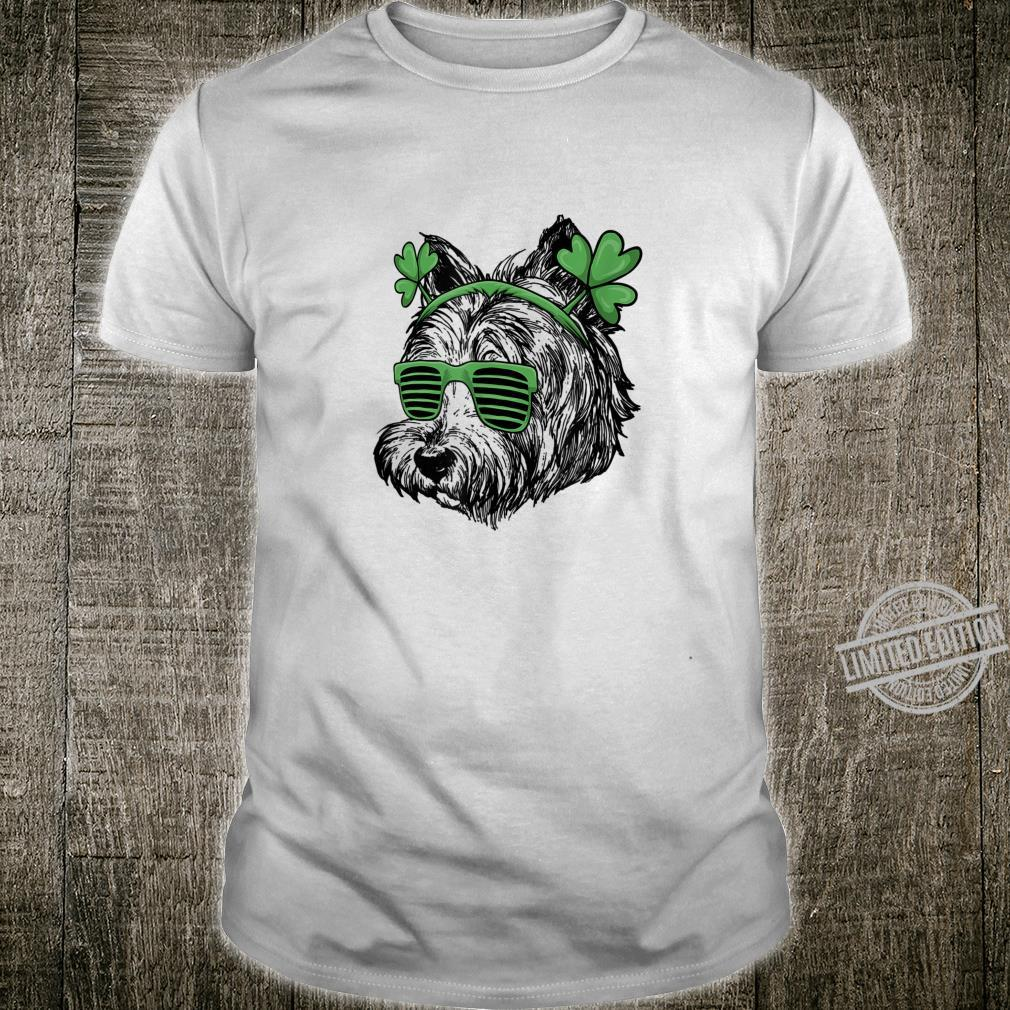 Happy St Patricks Day Westie Wearing Glasses Shirt