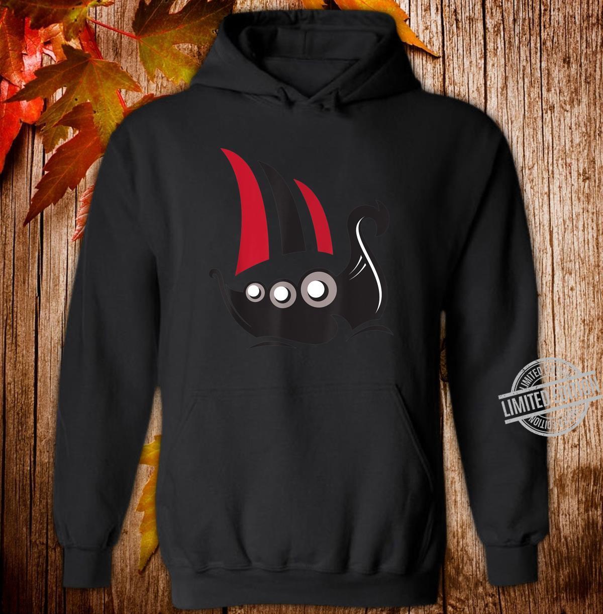 Herren Wikinger Langboot Shirt hoodie