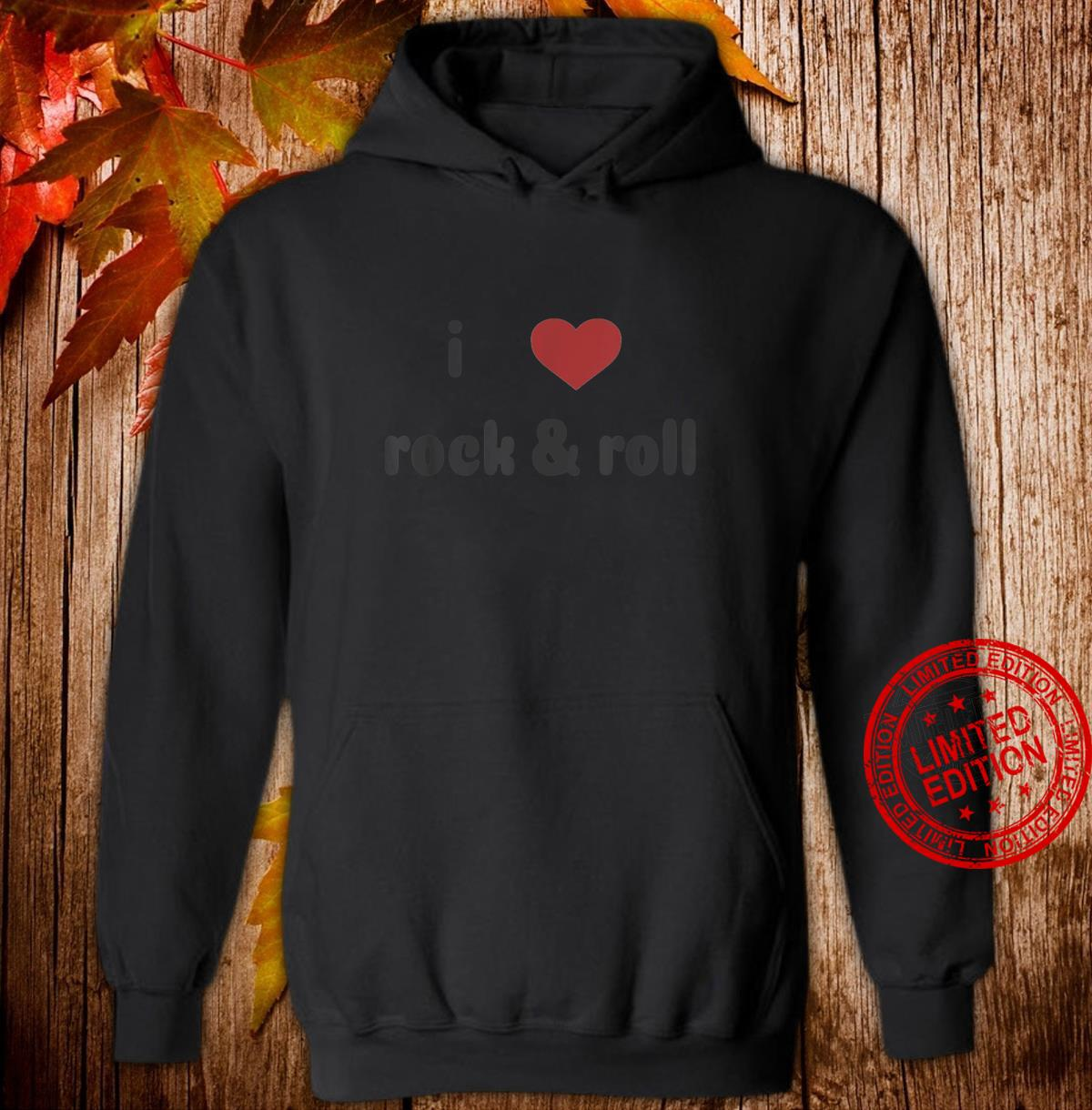 I Heart Rock and Roll Music with Faded Design Shirt hoodie