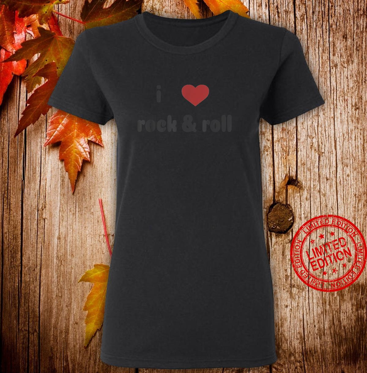 I Heart Rock and Roll Music with Faded Design Shirt ladies tee