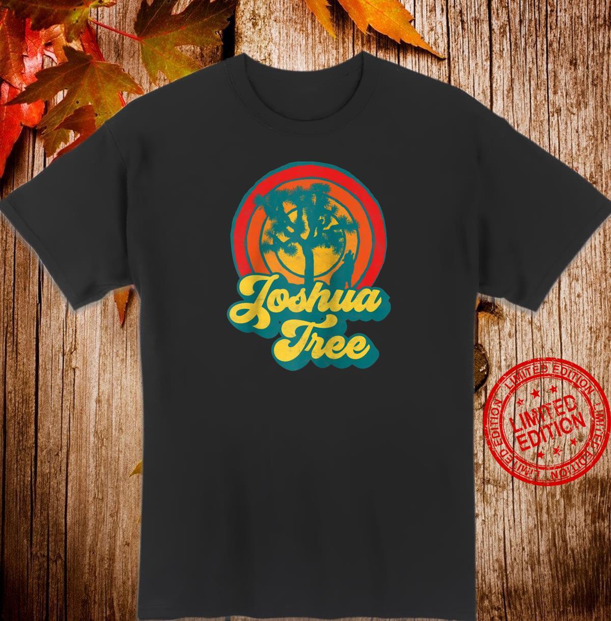 Joshua Tree National Park Retro Coyote 70s Sunset Shirt