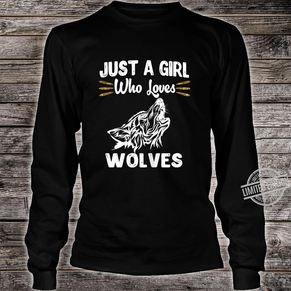 Just A Girl Who Loves Wolves Nature Wolf Shirt long sleeved