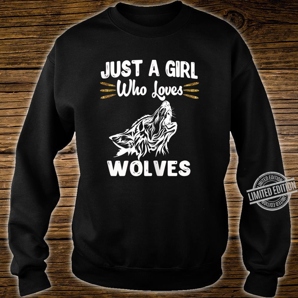 Just A Girl Who Loves Wolves Nature Wolf Shirt sweater