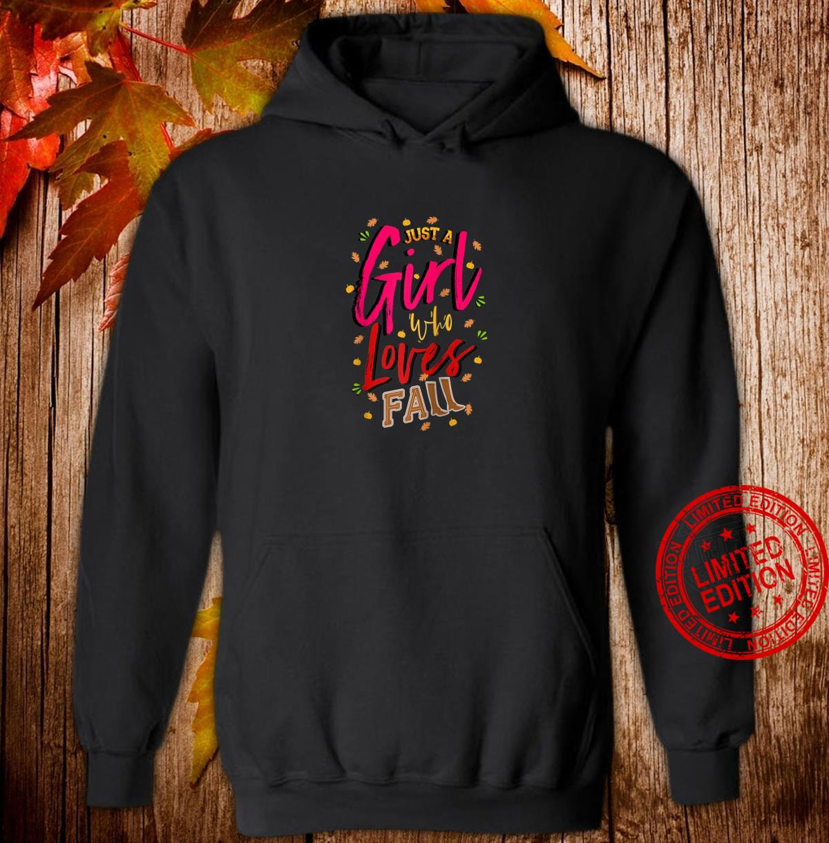 Just a Girl Who Loves Fall Cute Autumn Mom, Daughter Shirt hoodie