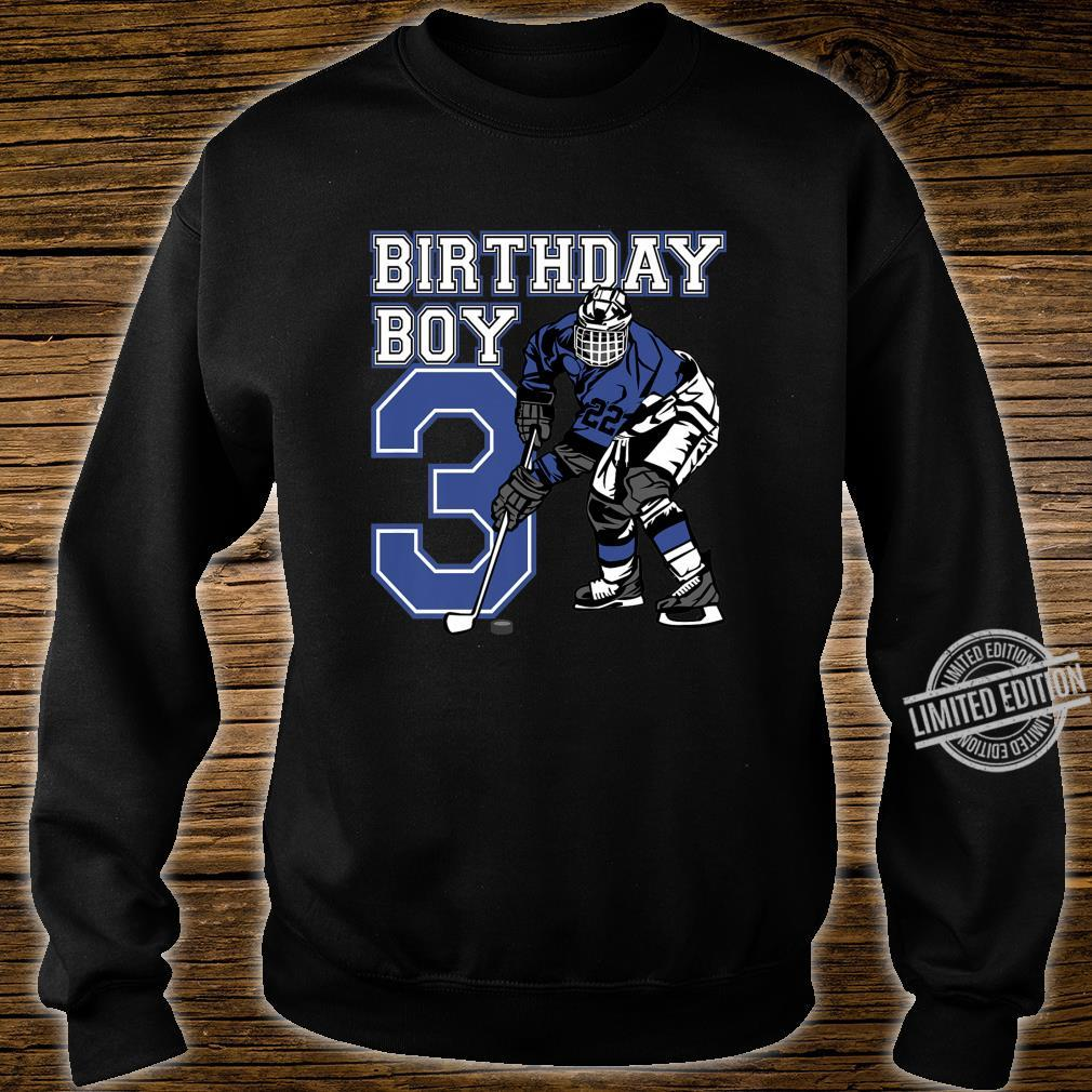 Kids 3 Year Old Ice Hockey Themed Birthday Party 3rd Boy Shirt sweater