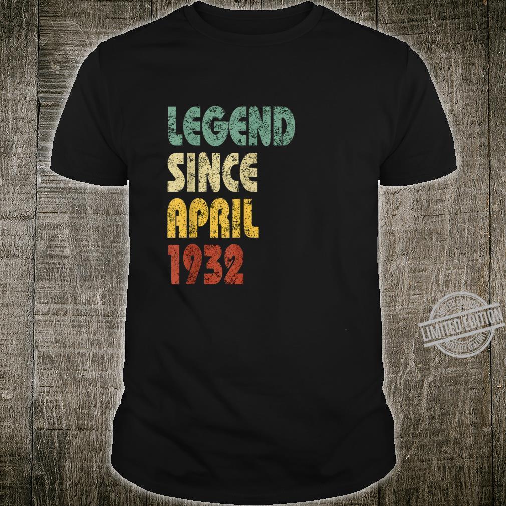 Legend Since April 1932 Born In Retro Birthday Shirt