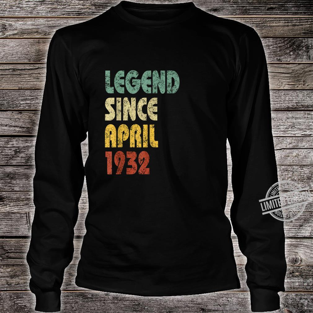 Legend Since April 1932 Born In Retro Birthday Shirt long sleeved