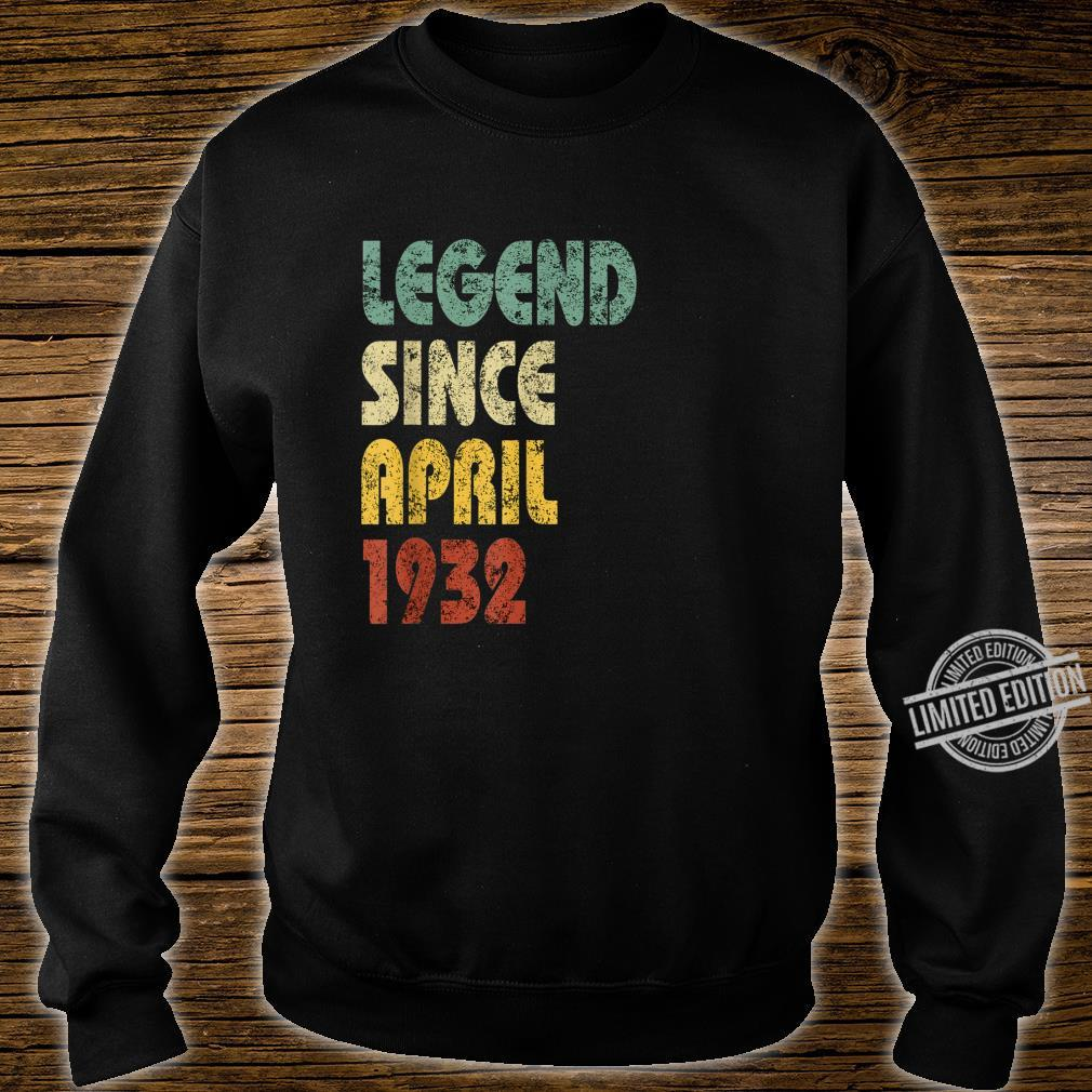 Legend Since April 1932 Born In Retro Birthday Shirt sweater