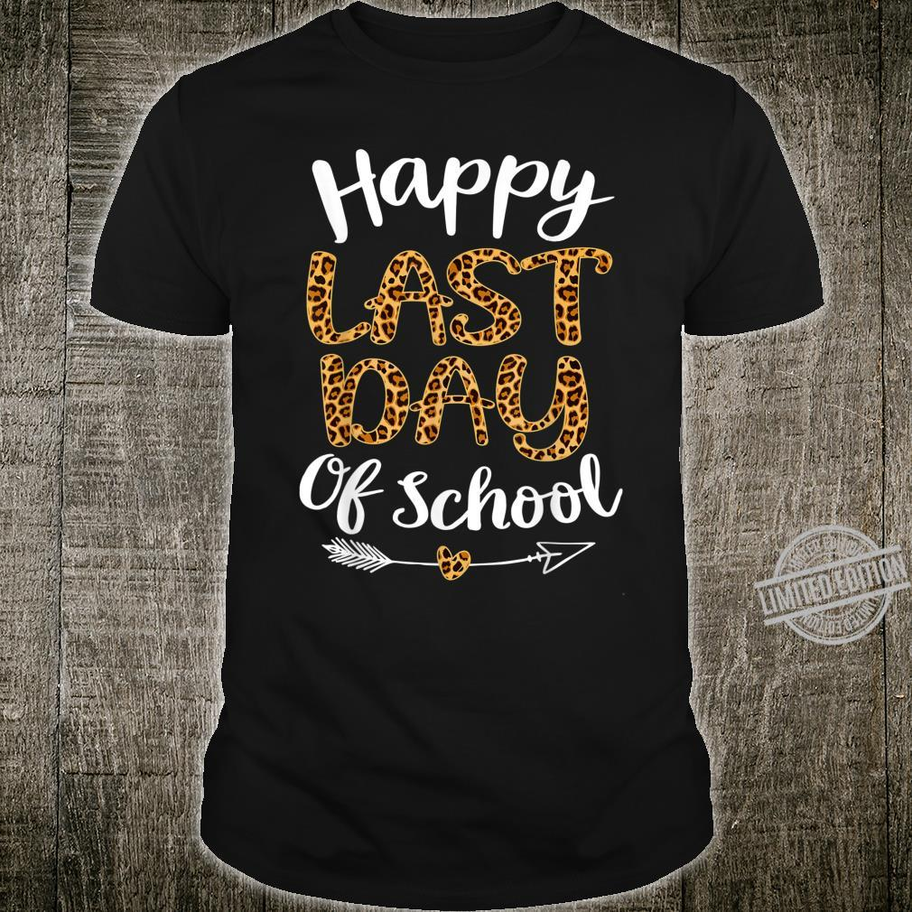 Leopard Happy Last Day Of Schoolhippie Students Shirt