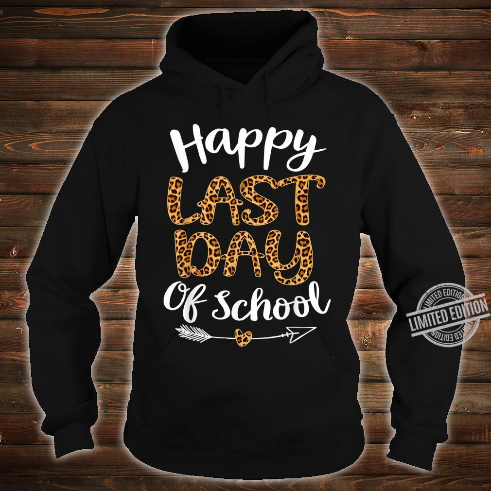Leopard Happy Last Day Of Schoolhippie Students Shirt hoodie