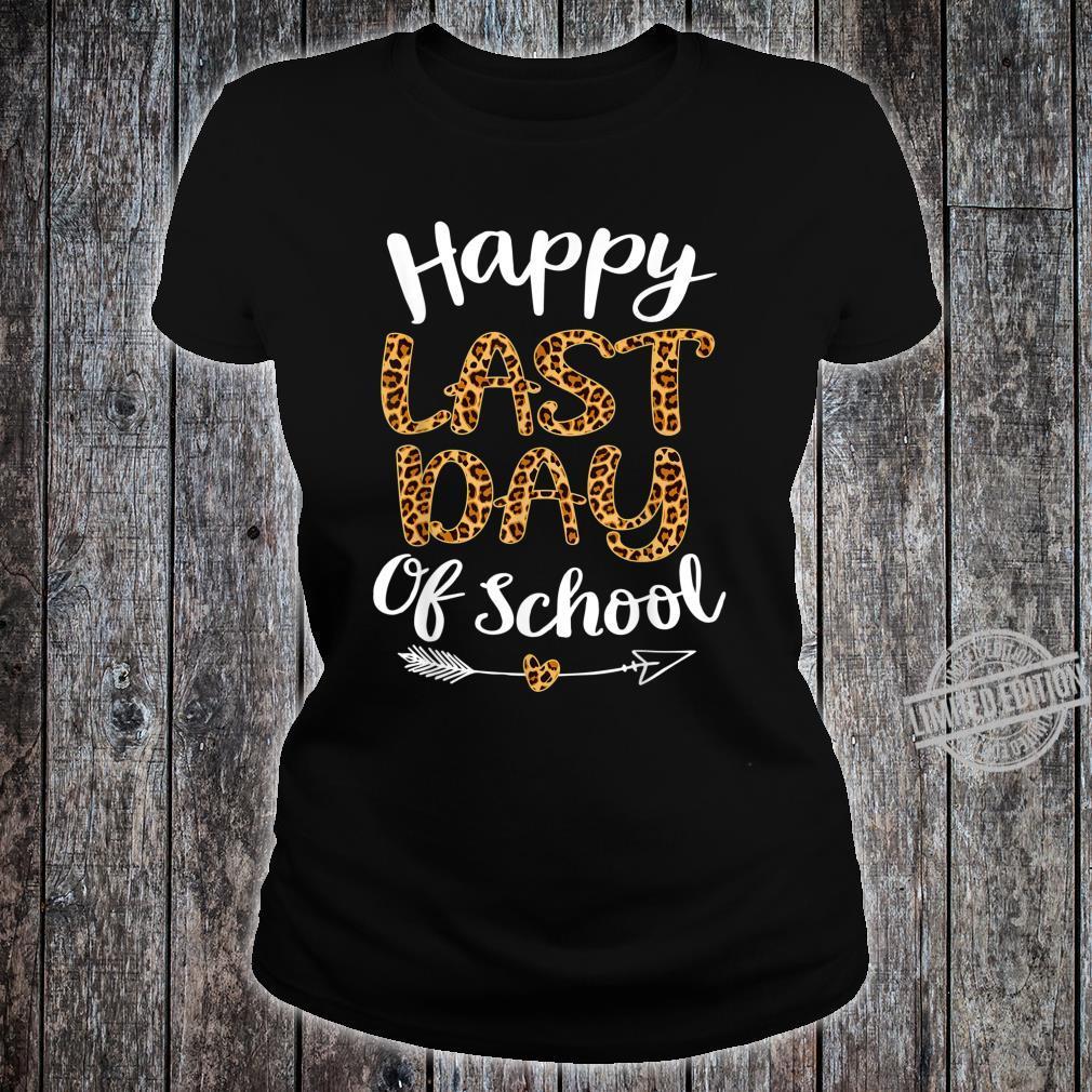Leopard Happy Last Day Of Schoolhippie Students Shirt ladies tee