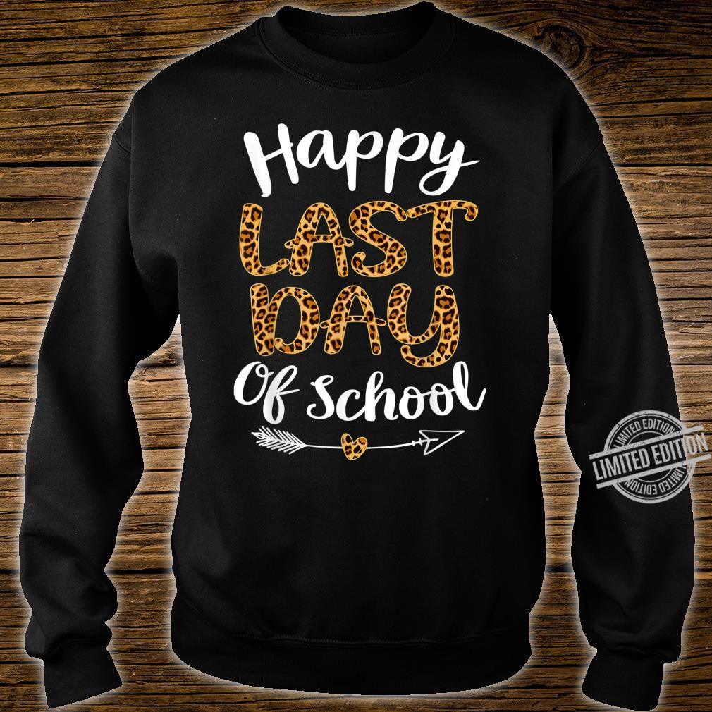 Leopard Happy Last Day Of Schoolhippie Students Shirt sweater