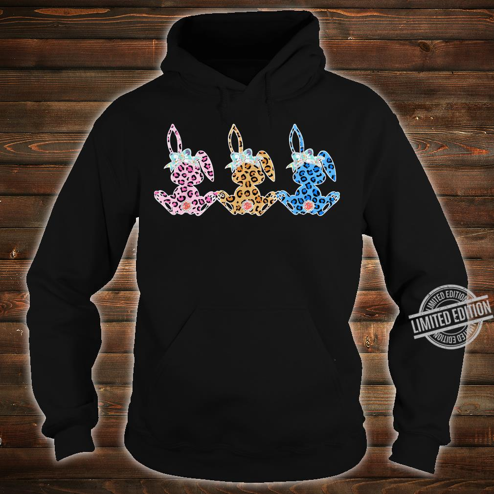 Leopard Plaid Bunny Easter Day Costume Rabbit Shirt hoodie