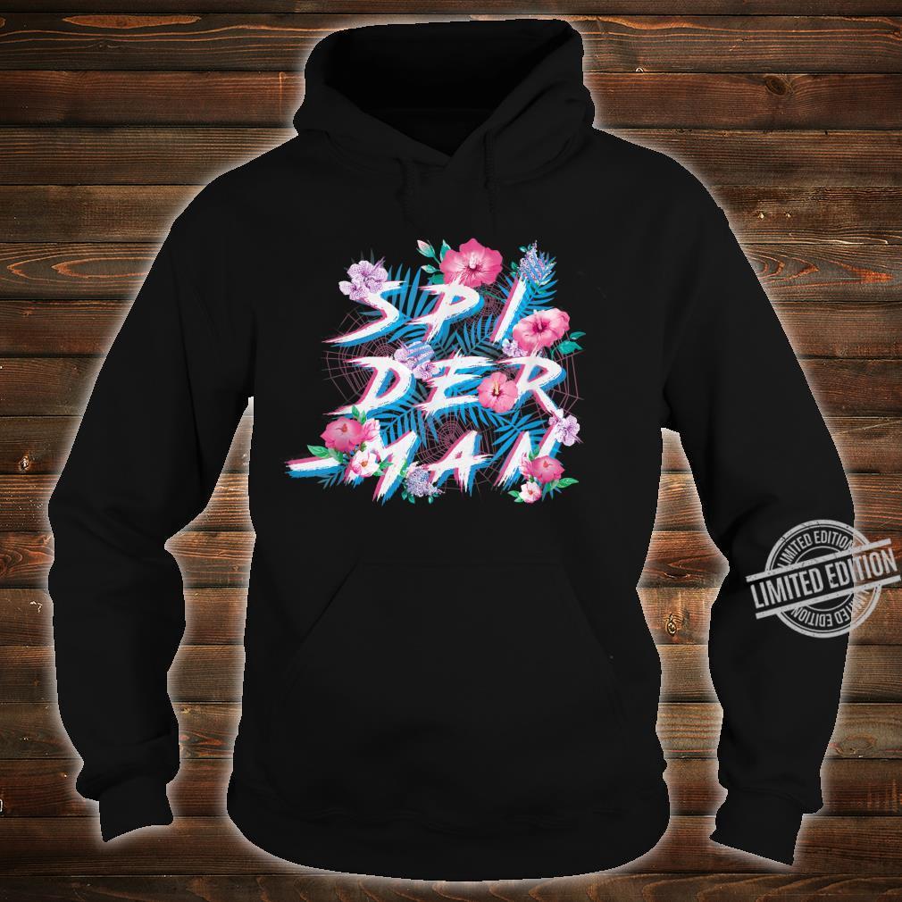 Marvel SpiderMan Floral Print Shirt hoodie